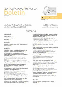 Sumario SECAH Boletín 12